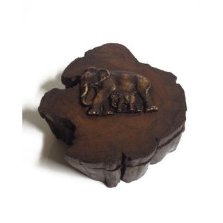 Embossed Elephants Log Box