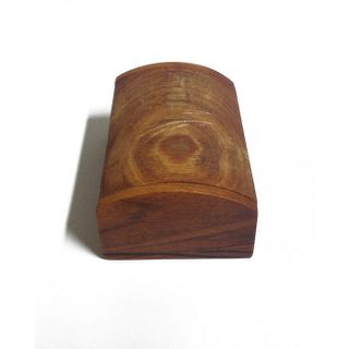 Wooden Log Box with Leaves Carved
