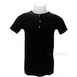 Henley-Neck Short Sleeves T-Shirt