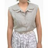 Printed Blouse (Grey/White)